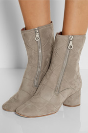 Marc Jacobs Quilted nubuck ankle boots
