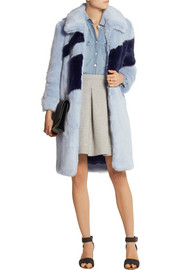 Finds + Rejina Pyo two-tone faux fur coat