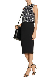 Karl Lagerfeld Nila quilted cotton-blend midi skirt
