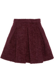 Hadly pleated woven mini skirt