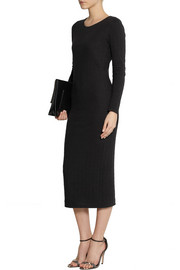 Karl Lagerfeld Nila cotton-blend cloqué midi dress
