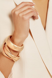 Rolling 18-karat rose gold interlinked bracelet