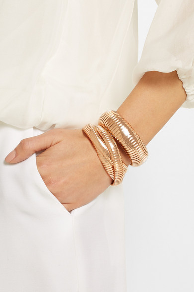 Sidney Garber The Domed 18 Karat Rose Gold Bracelet Net A Porter Com