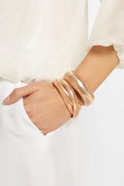 The Domed 18-karat rose gold bracelet