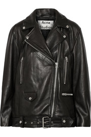 Acne Studios More oversized leather biker jacket