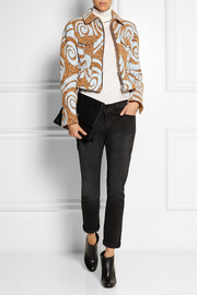 Acne Studios Thea printed tweed jacket