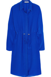 Acne Studios Silk crepe de chine shirt dress