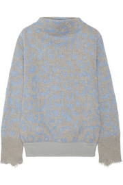 Acne Studios Mist leopard-intarsia knitted sweater