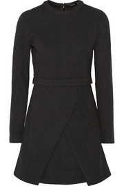 Proenza Schouler Wrap-effect wool-blend crepe dress