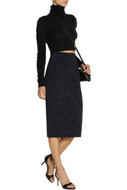 Proenza Schouler Paint-splattered jersey midi skirt