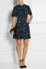 Proenza Schouler Flocked moiré-jacquard mini dress