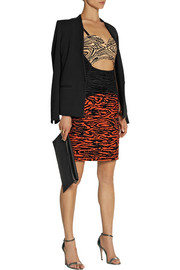 Proenza Schouler Cutout flocked faille mini dress