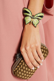 Valentino Enameled gold-tone butterfly cuff