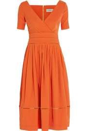 Preen by Thornton Bregazzi Robin pointelle-trimmed stretch-crepe dress