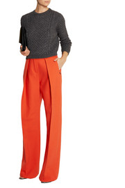 Preen by Thornton Bregazzi Pleated wool-twill wide-leg pants