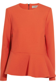 Preen by Thornton Bregazzi Satine wool-twill peplum top