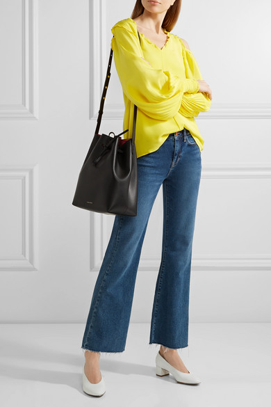9b75fbe7469d Mansur Gavriel | Leather bucket bag | NET-A-PORTER.COM