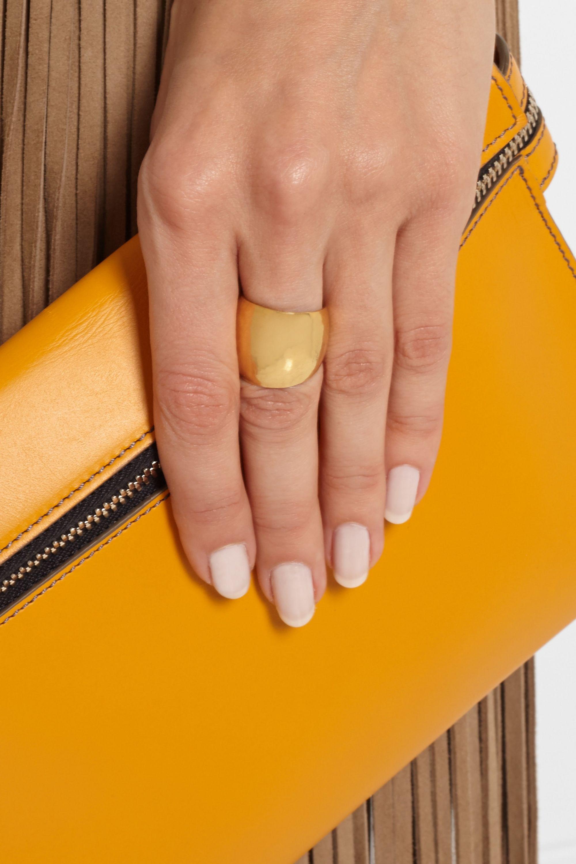 Hervé Van der Straeten Hammered gold-plated ring