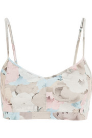 Live The Process Floral-print stretch-jersey sports bra