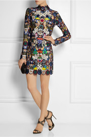 Mary Katrantzou Dixicult embellished macramé lace mini dress