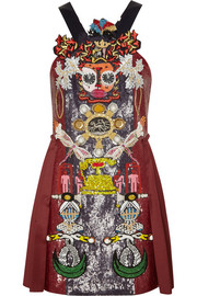 Mary Katrantzou Clocktopia embellished wool mini dress