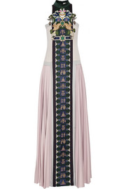 Mary Katrantzou Stepa embellished wool gown