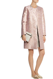 Mary Katrantzou A-line metallic jacquard coat