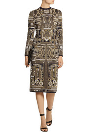 Mary Katrantzou Metallic jacquard-knit dress