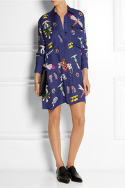 Mary Katrantzou Oriane printed silk-georgette shirt dress