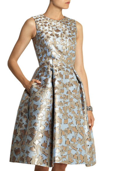 19e15c91690 Mary Katrantzou. JQ Astere metallic jacquard dress