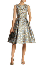 Mary Katrantzou JQ Astere metallic jacquard dress