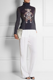 Mary Katrantzou Metallic stretch-knit turtleneck sweater