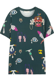 Mary Katrantzou Printed stretch-jersey T-shirt