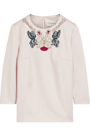Mary Katrantzou Velvo embellished wool top