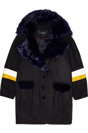 Finds + Paper London Bora shearling-trimmed wool-blend felt coat