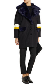 + Paper London Bora shearling-trimmed wool-blend felt coat