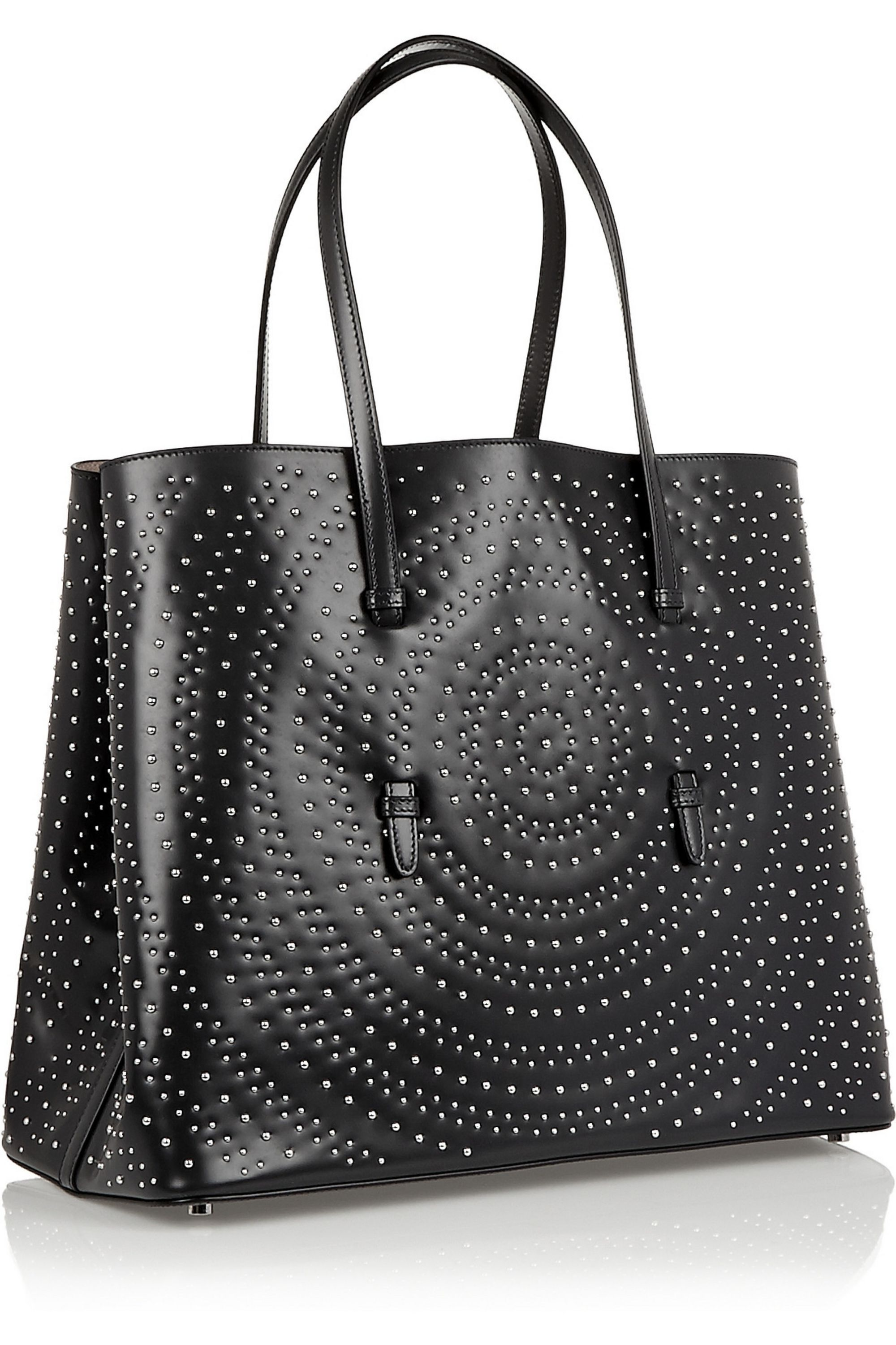 Alaïa Shopper Circle studded leather tote