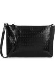 Vienna laser-cut leather shoulder bag