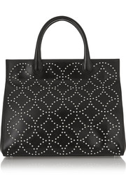 Arabesque small studded leather tote