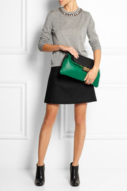 Marni Two-tone leather fold-over clutch
