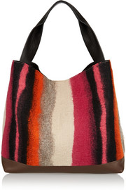Marni Pod leather and wool-felt tote