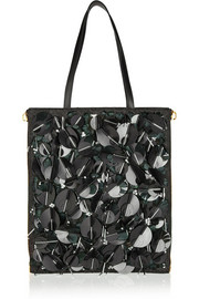 Marni Embellished leather tote