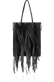 Marni Fringed leather tote
