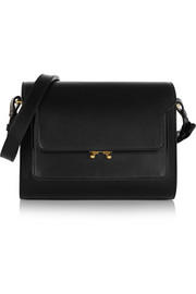 Trunk Metal small leather and gold-tone shoulder bag