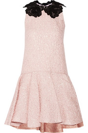 Giambattista Valli Lace-appliquéd cloqué mini dress