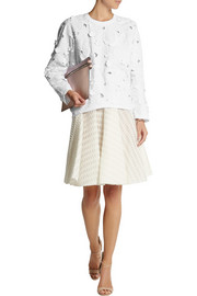 Giambattista Valli Embroidered poplin and jersey top