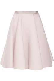 Giambattista Valli Wool and silk-blend A-line skirt