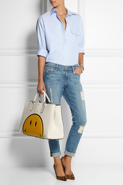 Anya Hindmarch Smiley Ebury Maxi Featherweight textured-leather tote