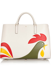 Anya Hindmarch Ebury Maxi Cornflakes leather tote
