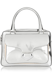 Tod's Military metallic leather tote